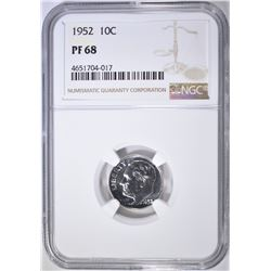 1952 ROOSEVELT DIME NGC PF-68
