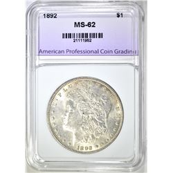 1892 MORGAN DOLLAR APCG BU