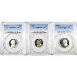 3- PCGS GRADED COINS ALL PR69DCAM