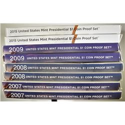 U.S. PRESIDENTIAL DOLLAR PROOF SETS