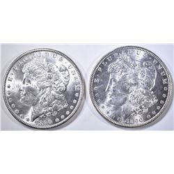 2-CH BU 1890 MORGAN DOLLARS