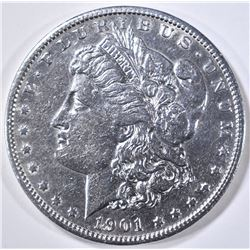 1901-S MORGAN DOLLAR AU CLEANED