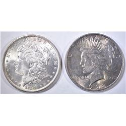 1896 CH BU MORGAN & 1922 AU PEACE DOLLARS