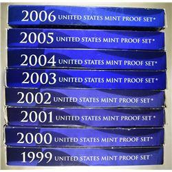 1999 THRU 2006 U.S. PROOF SETS