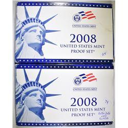 2-2008 U.S. PROOF SETS IN ORIG PACKAGING