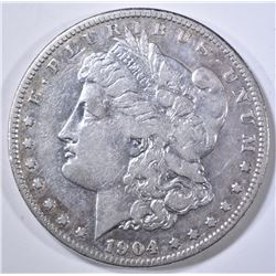 1904-S MORGAN DOLLAR, VF