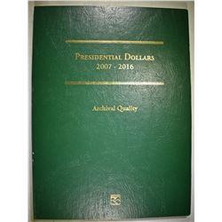 2007 THRU 2015 PRESIDENTIAL DOLLARS IN FOLDER
