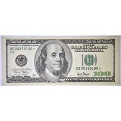 2001 $100 FRN STAR NOTE CU