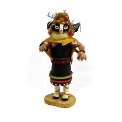 Vintage Hopi Kokopelli Dancer Kachina, Talahytewa