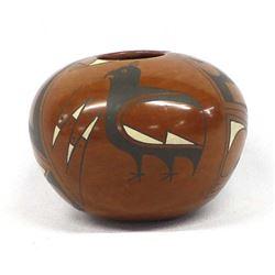 Mata Ortiz Polychrome Pottery Seed Jar by Lopez