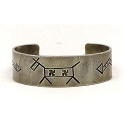Native American Whirling Log Horse Cuff Bracelet