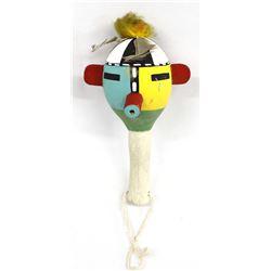 Vintage Hopi Gourd Ceremonial Dance Rattle