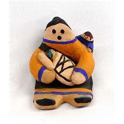 1996 Acoma Storyteller Pottery by D. Chino