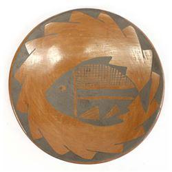 Mata Ortiz Pottery Shallow Bowl by G. Sandoval