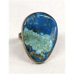 Navajo Sterling & Chrysocolla Ring, Size 11