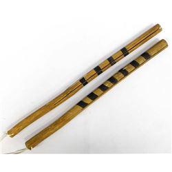 Navajo Painted Click Clack Dance Sticks