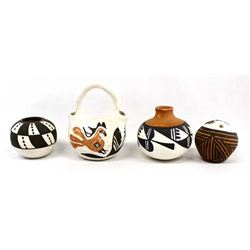 4 Pieces of Acoma Pottery Miniatures