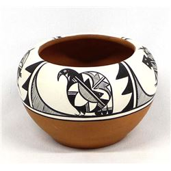 Native American Isleta Pottery Bowl by A. Edaakie