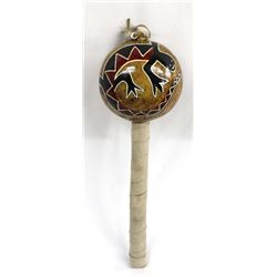 Apache Gourd Dance Rattle by Pete Whitehorse