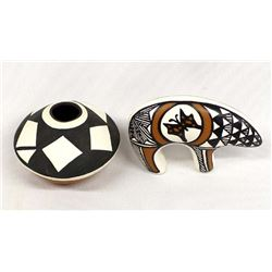 2 Pieces of Native American Acoma Pottery