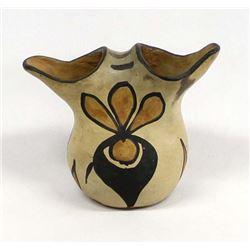 Vintage Santo Domingo Pottery Wedding Vase