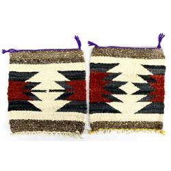 2 Native American Navajo Wool Textiles