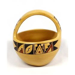 Hopi Pottery Basket by Renee Silas