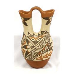 Large Jemez Polychrome Wedding Vase by A. Tafoya