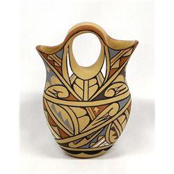 Jemez Pueblo Pottery Wedding Vase by Toya