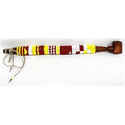 Native American Plains Indian Beaded Pipestone Pip