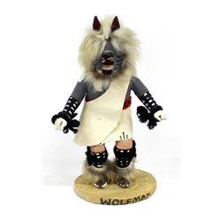 Navajo Wolfman Kachina by Mary Calvin