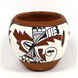 Vintage Jemez Pueblo Polychrome Pottery Jar