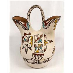 Vintage Native American Jemez Pottery Wedding Vase