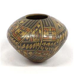 Mata Ortiz Polychrome Seed Jar by Lupita Lucero