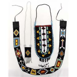 Hand Beaded Pipe Bag, Belt, & Necklace