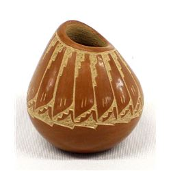 Jemez Miniature Pottery Seed Jar by G. Vigil