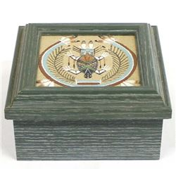 Navajo Sand Painting Wood Trinket Box