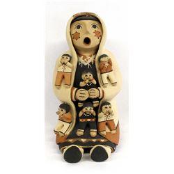 Jemez Pottery Storyteller by V. Lucero