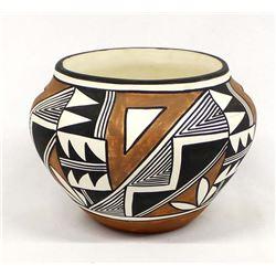 Acoma Polychrome Pottery Jar by Vicki Garcia