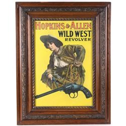 Original Hopkins & Allen Arms Co. Poster c. 1900-