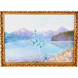 Ace Powell (Montana 1912-1978) Glacier Park Oil