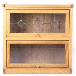 Quarter Sawn Oak Two Stack Barrister Cabinet