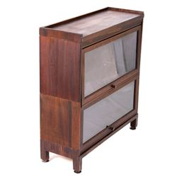 Early Oak Double Stack Barrister Display Cabinet