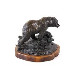 Original Montana Artist Bill Ohrmann Bronze Bear