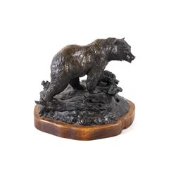 Original Montana Artist Bill Ohrmann Bronze Bear