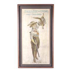 1910 Nobel's Explosive Co. Poster Ballistite RARE