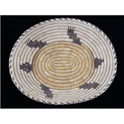 Pima Turtle Effigy Handwoven Basket 1950's