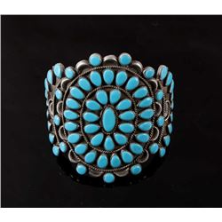 Navajo Petit Point Turquoise LARGE Cuff