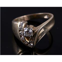 Wonderful 14K Plumb Gold & Diamond Ring