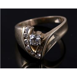 Wonderful 14K Plumb Gold & Diamond Ring
